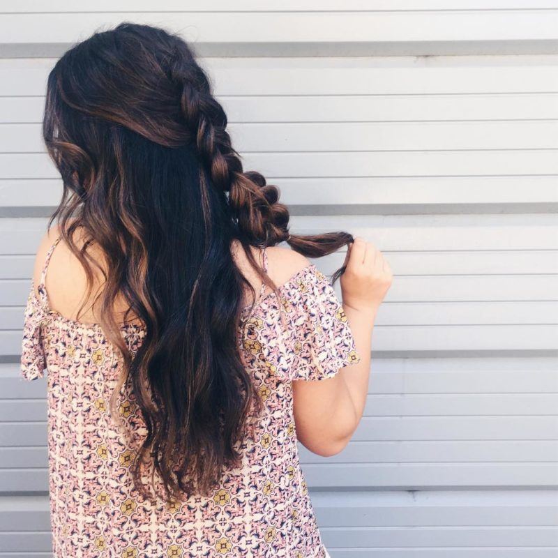 get ready every day, hair braids, off the shoulder