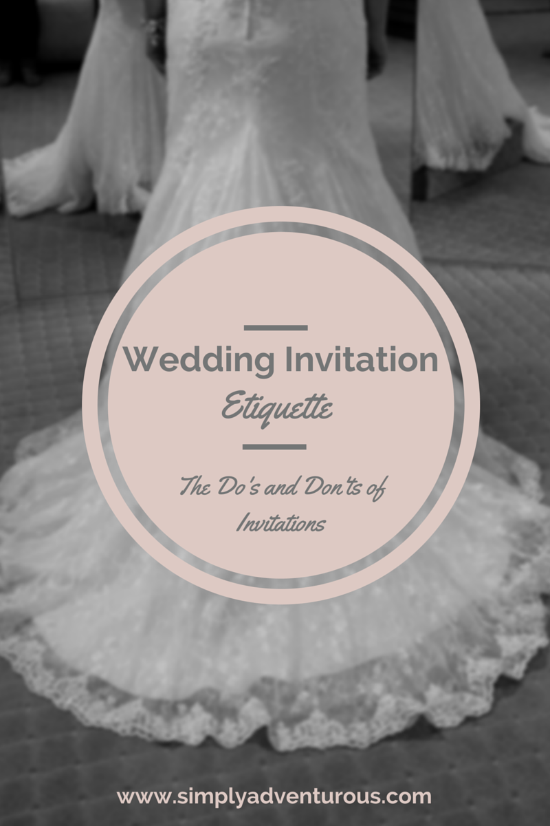Wedding Gift Etiquette If Not Invited Wedding : have rounded up a few of my favorite Wedding Invitation Etiquette ...