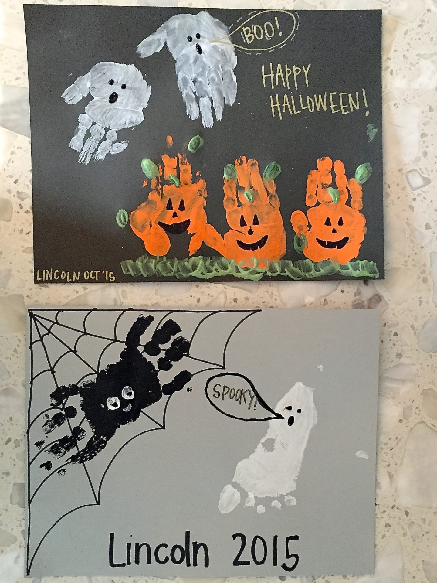 Halloween Handprints Craft