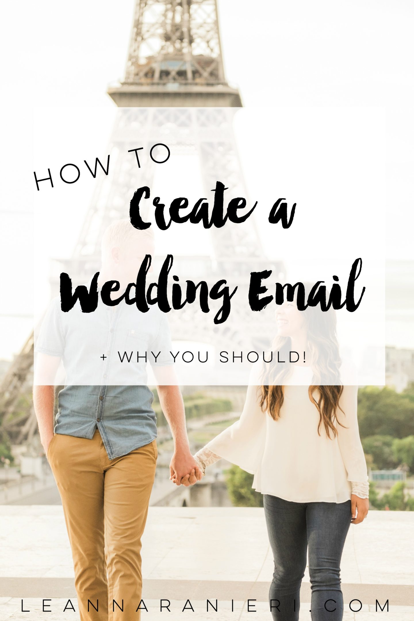 create a wedding email