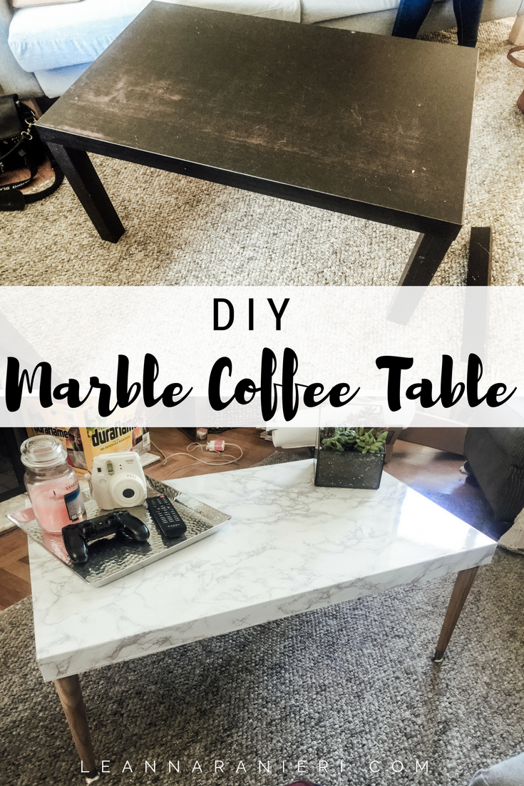 DIY Marble Coffee Table